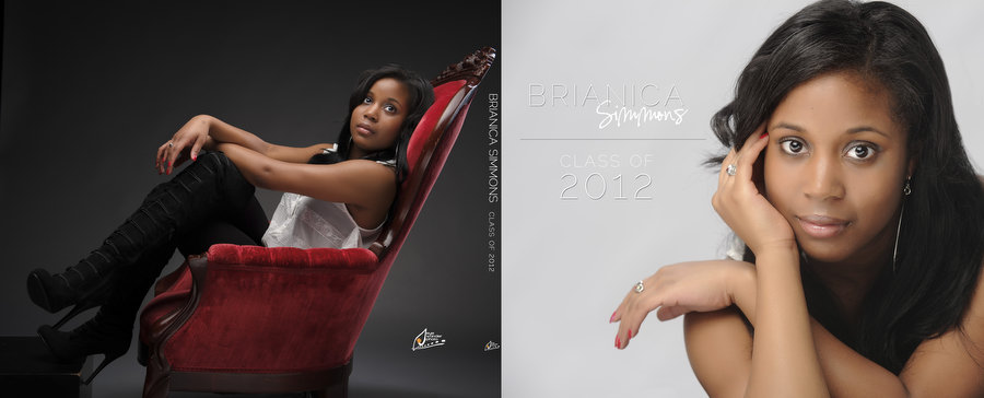 Cover BrianicaSimmons High School senior photographer in Baton Rouge | Brianica class of 2012 album
