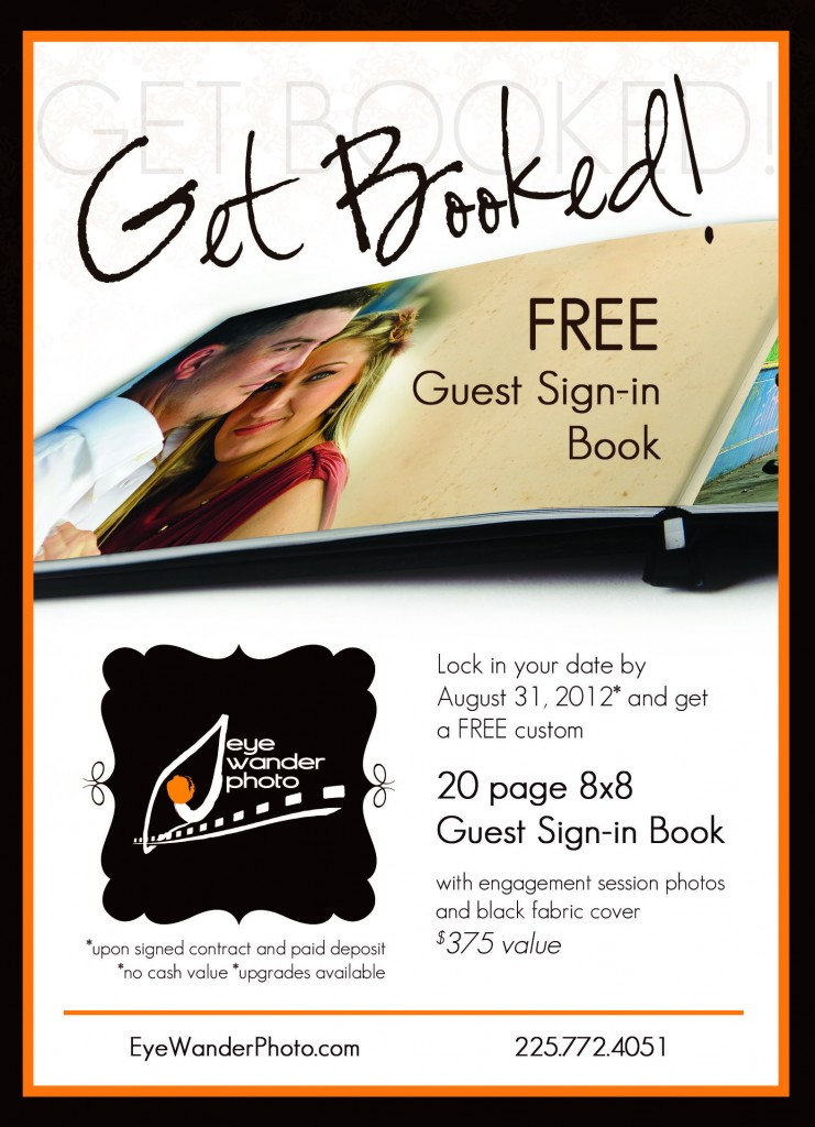 Get Booked by August 31!