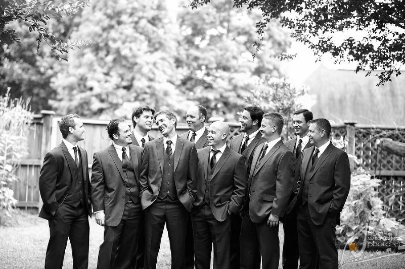 New Orleans Wedding Grooms Party Laugh  Look Sharp in Suits