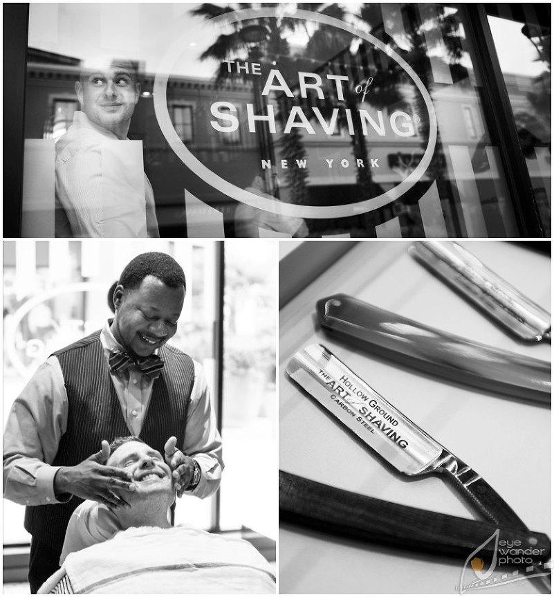 Baton Rouge Wedding Day Art of Shaving Barber Spa
