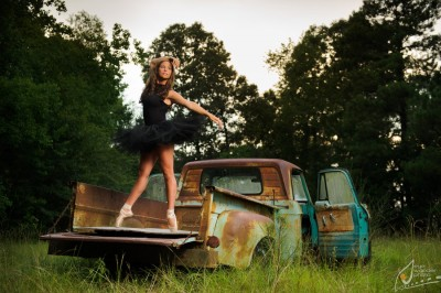 ballet-dancer-vintage-truck-field-senior