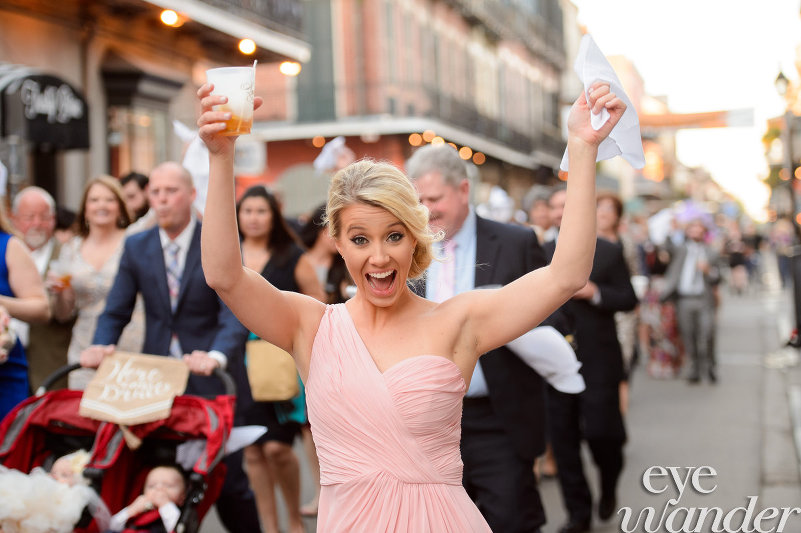 Cocktails for everyone on the Streets of New Orleans - Wedding Second Line